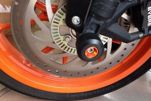 Front /& Rear Fork Wheel Frame Slider Crash Protector For KTM 125 200 390 DUKE