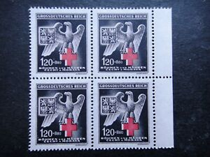 Germany Nazi 1943 Stamps MNH Block Eagle & Red Cross Third Reich B&M WWII The su