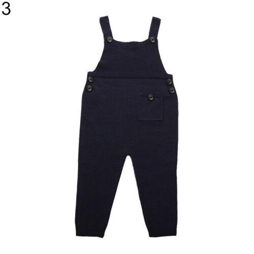 Eg /_ Kinder Junge Mädchen Strick Baumwolle Bid Hose Strampler Latzhose Kleidung