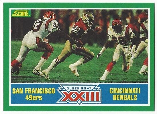 1989 SCORE FOOTBALL #275 SUPER BOWL XXIII (MONTANA/RICE) - NEAR MINT-