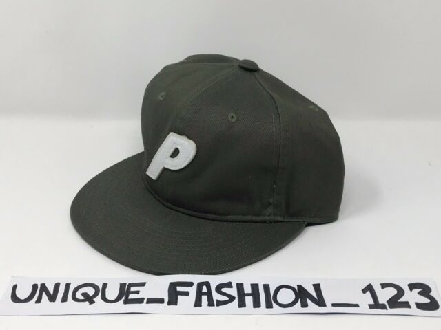 PALACE SKATEBOARDS SS16 STADIUM 6 PANEL CAMP CAP P HAT OLIVE GREEN FLAT PEAK cd927c93bb37