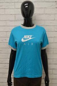 Maglia-NIKE-Donna-Taglia-Size-L-Maglietta-Shirt-Woman-Manica-Corta-Cotone-Blu