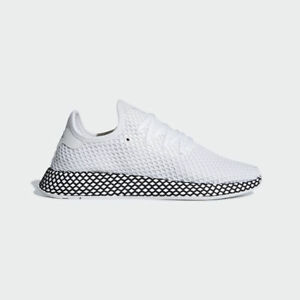 new arrival 76b8b 494b1 Image is loading Adidas-Originals-Deerupt-Runner-White-Black-Mens-Lifestyle-