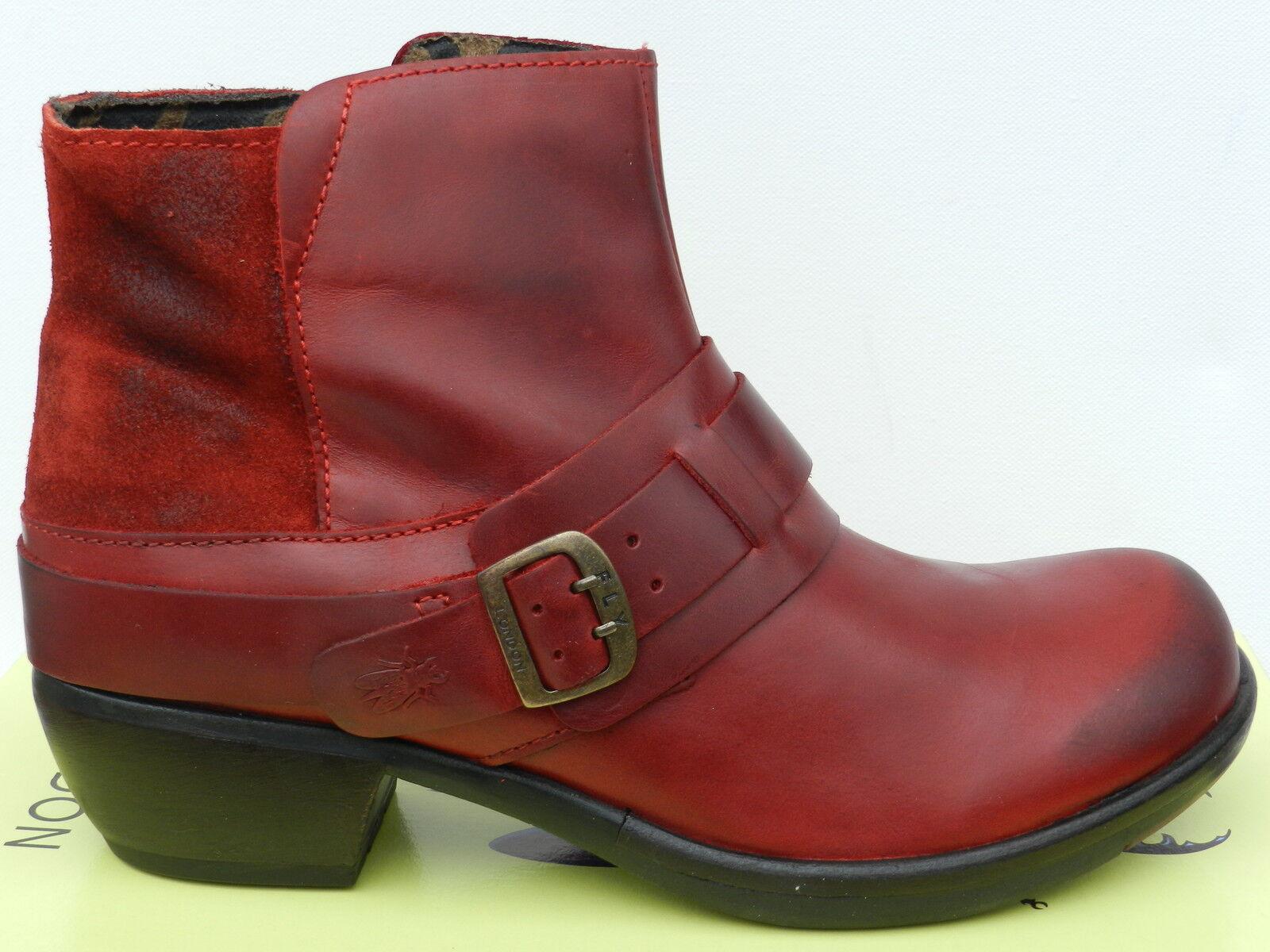 Fly London Mont shoes Femme 41 Bottines red Bottes Montantes Mel UK8 Neuf