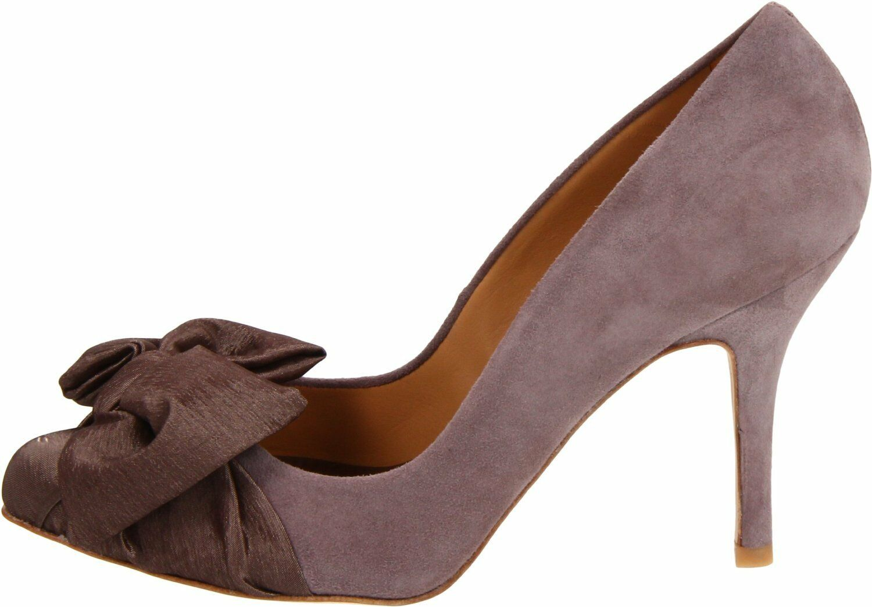 Nuevo En Caja Caja Caja Badgley Mischka Sydney Gamuza Bombas Tacones Zapatos arco de satén marrón topo talla 7 7848a6