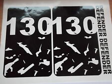 LAND ROVER DEFENDER 130  Body panel bonnet Door Sticker SET