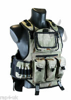 Rap4 Counterstrike Paintball Airsoft Padded Vest Like Gxg (desert Camo) [bs1]