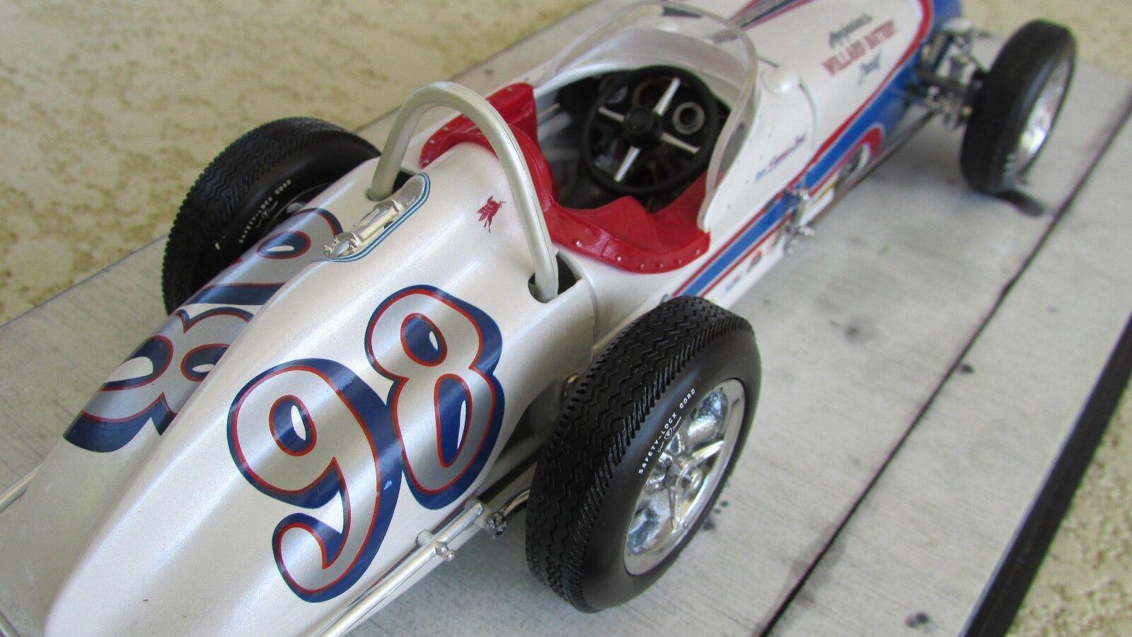 Carousel 1 Parnelli Jones  98 Watson 1962 Indy 500 Asta Auto da Corsa Acrilico