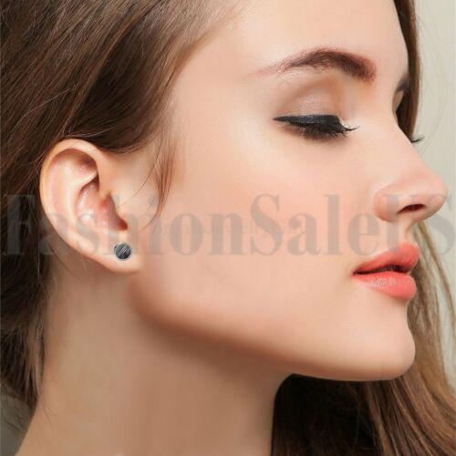 10 mm Stripe Pattern Round Barbell Haltère Homme Femme Vis Clous d/'oreilles 2pcs