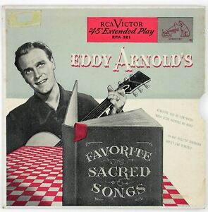 EDDY ARNOLD Eddy Arnold's Favorite Sacred Songs EP 1952 COUNTRY GOSPEL NM- NM-