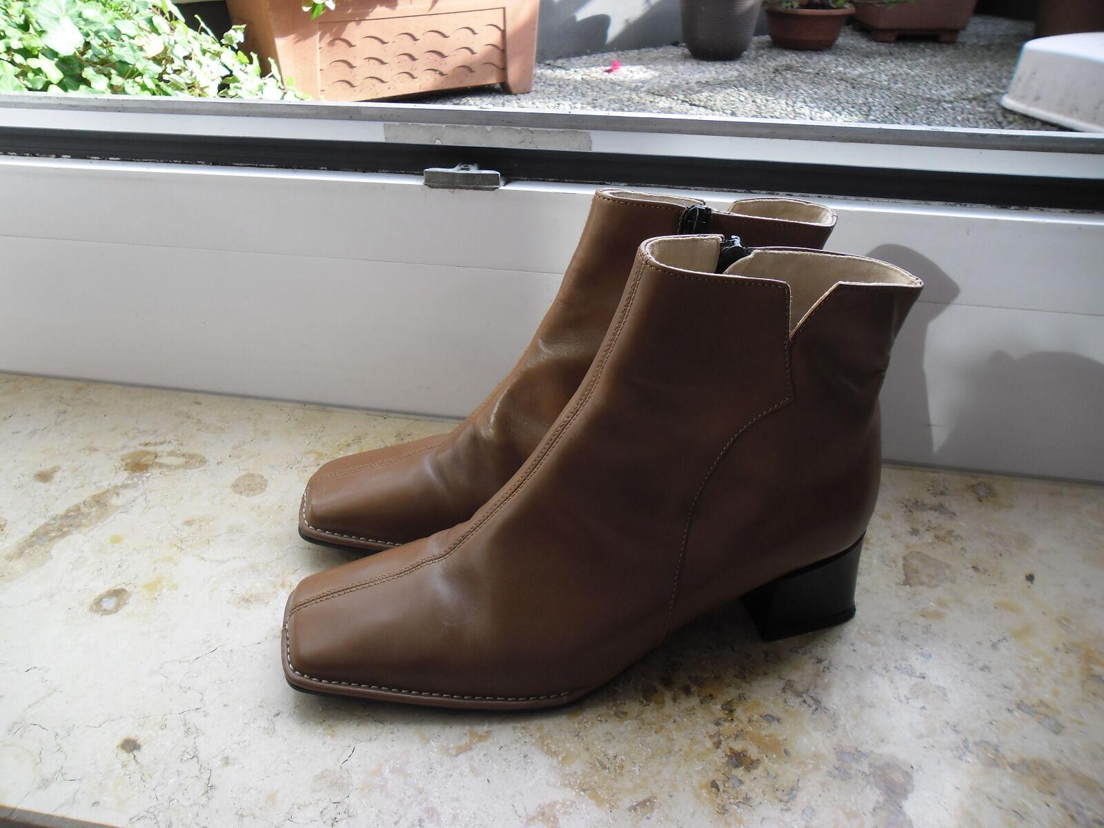 Ara Stiefel Stiefeletten Schuhe Echtleder 40 6,5 6 1/2 braun neu + Lied Biba B.