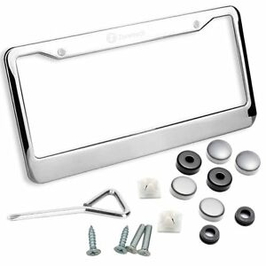 Image Is Loading Zone Tech Chrome Stainless Steel License Plate Tag