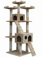 Go Pet Club 72 Tall Beige Cat Tree Furniture , New, Free Shipping