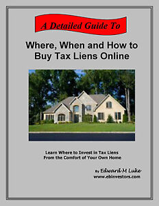 Where When And How To Buy Tax Liens Online Tax Lien Auctions Ebay