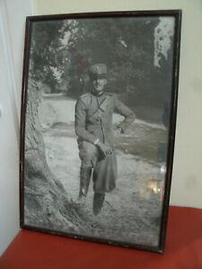 Antico-Quadro-Militante-Esercito-Italiano-Foto-VOLTERRA-Agosto-1927-51x34-50-cm