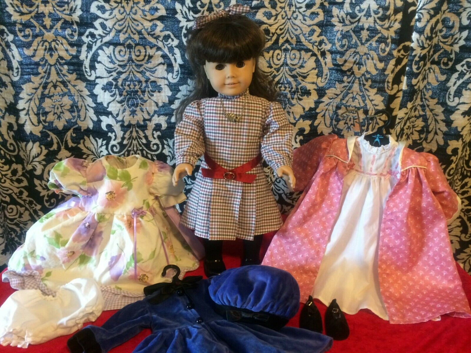 American Girl Doll Samantha 18  RETIrot Pleasant Co. W Original, Retirot outfits