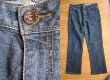 LADIES DKNY JEANS BLUE JEANS DENIM 3/4 LENGTH TROUSER PANTS SIZE 8-10 LOW WAIST