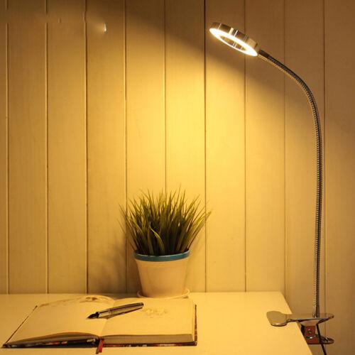 Dimmable LED Flexible USB Reading Light USB Clip-on Beside Bed Table Desk Lamp
