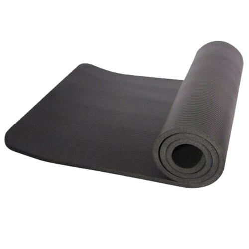 """10mm Thick Non-slip Yoga Mat Pad Exercise Fitness Pilates w// Strap 72/"""" x 24/"""" NEW"""