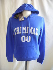 Ladies Jumper - Crimimal, size S, blue, hooded, sweater, BNWT, cotton - 1034
