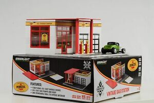 1-64-Pennzoil-Station-D-039-Essence-Gas-Mechanic-Vintage-Diorama-Greenlight-No-Car