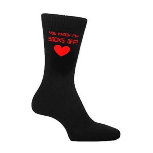 Mens Black You Knock My SOCKS Off Lover Boyfriend Husband Birthday Present Gift