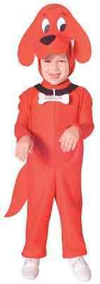Clifford Jumpsuit Nick Jr Cartoon Red Dog Fancy Dress Halloween Child Costume