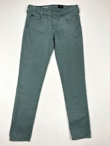 AG-Adriano-Goldschmied-The-Stevie-Ankle-Slim-Straight-Mint-Green-Size-28