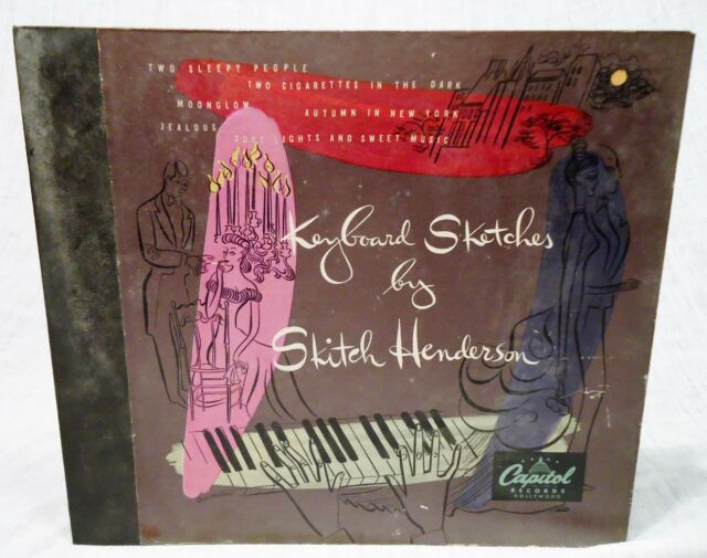 78 RPM Record Set:  Keyboard Sketches by Skitch Henderson Piano Jazz 1949