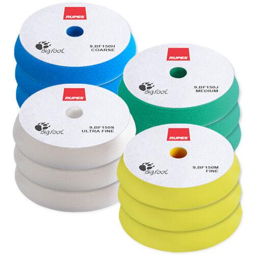 "RUPES BigFoot 6/"" Foam Polishing Pad Mix /& Match 12 Pack"