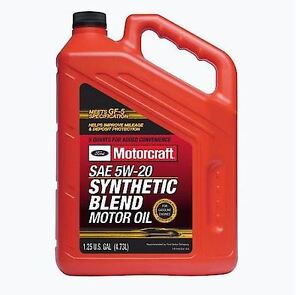 Motorcraft Sae 5w 20 Synthetic Blend Motor Oil Gallon