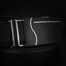 New Men Belts Waist Curve Leather Automatic Buckle Business Belt Waistband