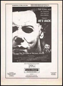 HALLOWEEN-4-Return-of-Michael-Myers-Original-1989-Trade-screening-AD-poster