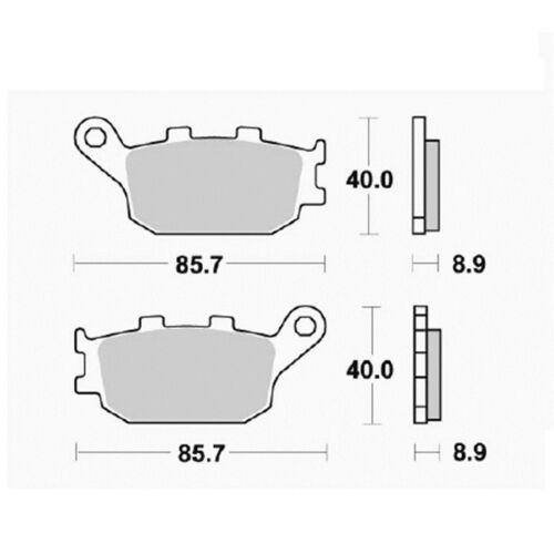 Pastilla freno Orgánica traseras SUZUKI SV 650 S ABS 2003 2016