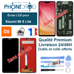 Ecran-complet-LCD-tactile-Xiaomi-Mi-8-Lite-Outils-stock-FR