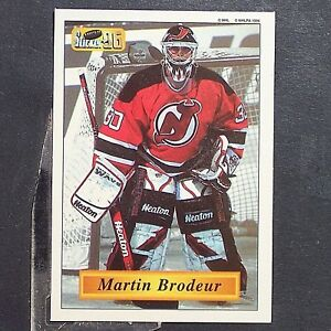 official photos 379c0 2e670 MARTIN BRODEUR 1995-96 Bashan Imperial Super Stickers #70 ...