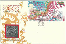 Malaysia FDC 2000 Year of The Dragon Royal Selangor Pewter