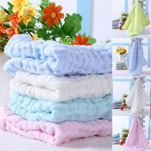 Details about Soft Cotton Baby Infant Newborn Bath Towel Washcloth Feeding  Wipe Cloth Flannels