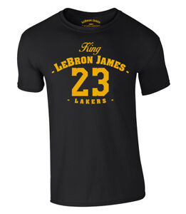 timeless design b30fc 29453 Details about King Lebron James T-Shirt 23 Lakers Los Angeles Jersey Jersey  S-XXL NEW 2018
