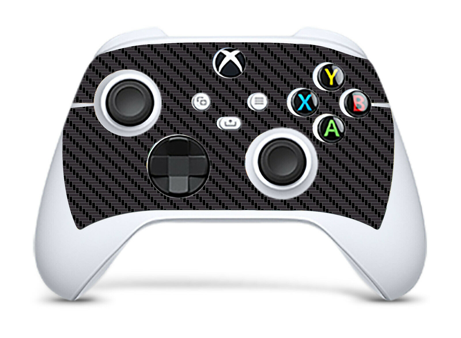 BLACK CARBON EFFECT Xbox SERIES S *TEXTURED VINYL ! * SKINS DECALS STICKERS