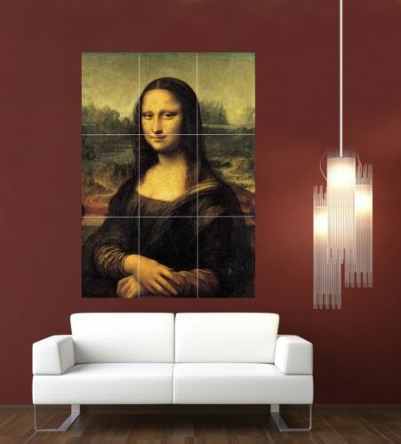 Mona Lisa Giant XL Section Wall Art Poster Art111