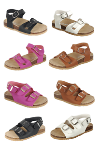 Baby-Toddler-Girls-Double-Strap-Cork-Bed-Open-Toe-Sandals-Summer-Beach-Shoes