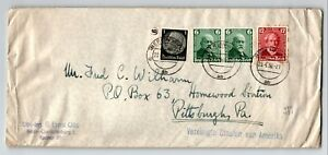 Germany-SC-B72-Pair-amp-B74-on-Olympic-Cover-to-USA-Ends-Creasing-Z13311