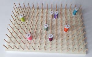 Garnrollenhalter weiß für 100 Garnrollen mit Wandaufhänger Nähgarnrollen Halter