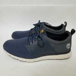 Timberland Mens 8 Killington Sneakers Blue Gray A1JKA Lace Up Low Top Mesh