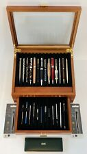 Lot Mixed Pens In Deluxe 26 Slot Levenger Case Parker Waterman Cross 925 More