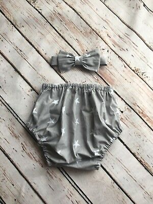 Grey//White star Braces.handmade. Baby Boys 1st Birthday Cake Smash Outfit// Prop