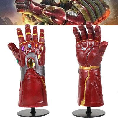 Endgame Iron Man Gauntlet LED Light Gloves Fans Adult  Cosplay Props Avengers4
