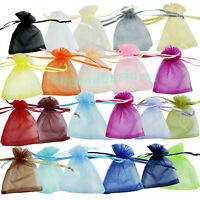 50/100/500 PCS 7x9cm Organza Jewelry Candy Gift Pouch Bags Wedding Xmas Favors