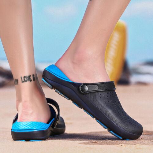 Summer Men Beach Garden Clogs Sports Pool Shoes Slip On Mules Sandals Slipper B